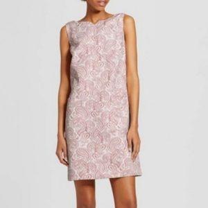 Victoria Beckham Blush Paisley Shift Dress S NEW 4